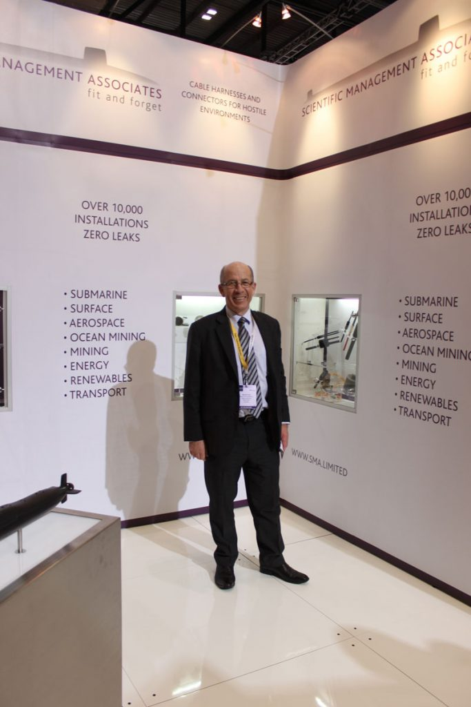 Warren King from SMI at DSEI exhibition
