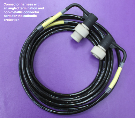 SMI Connector Harness with an angled termination