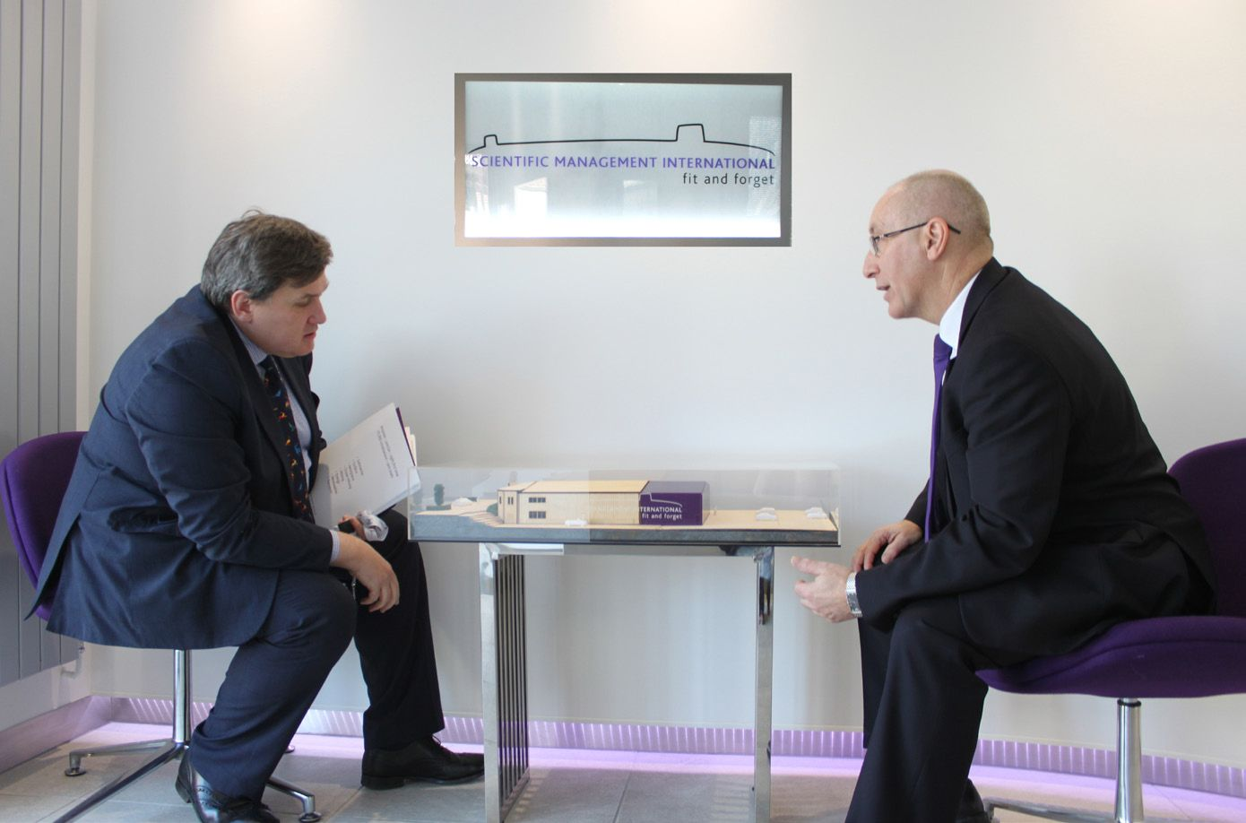Kit Malthouse MP meeting Chief Executive Officer of Scientific Management International, Keith Wells