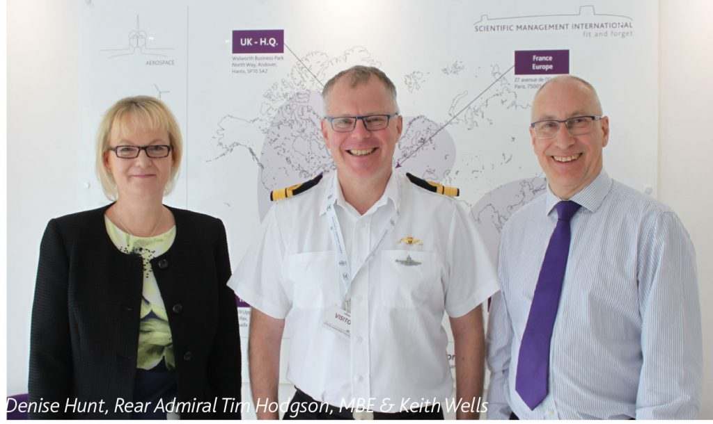 Denise Hunt, Rear Admiral Tim Hodgson, MBE & Keith Wells