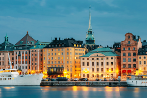 Embankment in Stockholm Sweden