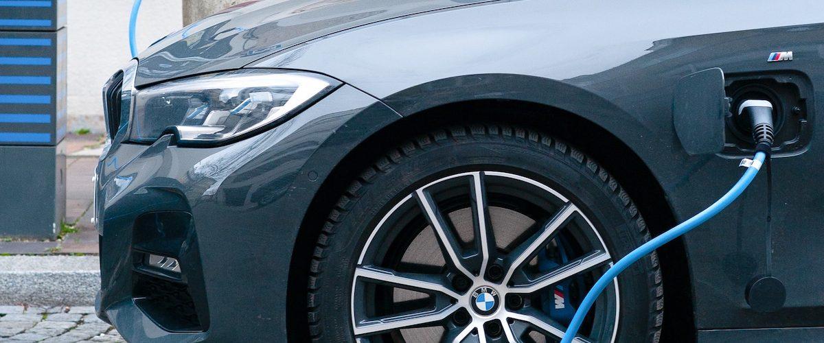 Close up of car charging