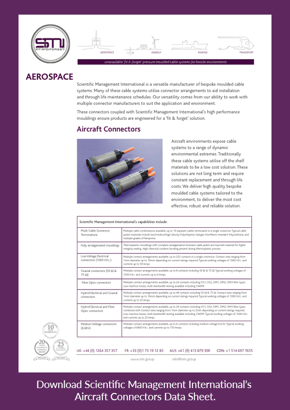 Download SMI's Aircraft Connector Data Sheet