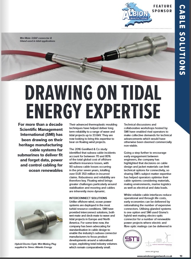 WEN Drawing on Tidal Energy Expertise Article featuring SMI
