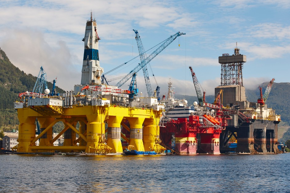 Oil and gas platform in Norway
