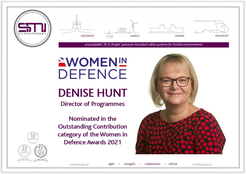 Denise Hunt from SMI Nominated for 'Outstanding Contribution' in Women in Defence Awards