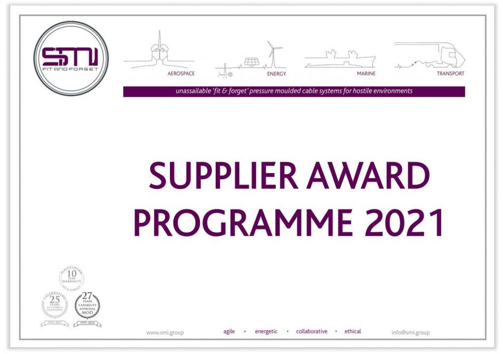 SMI Supplier Award Programme 2021 Certificate