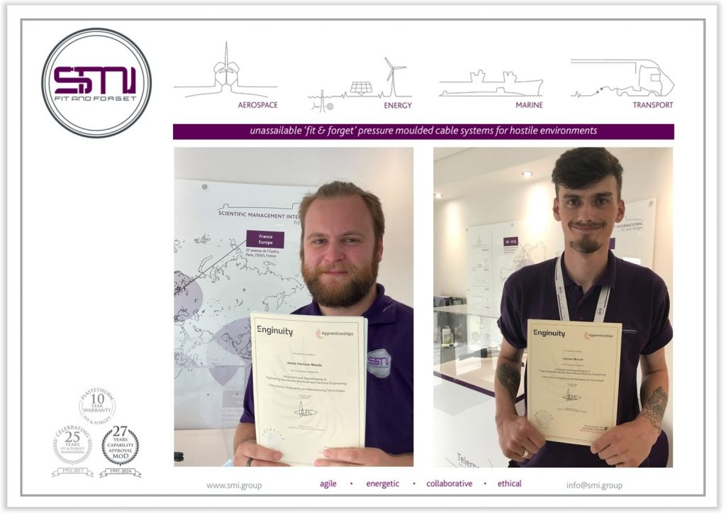 SMI congratulates apprentices as they complete the scheme and progress their careers within the company
